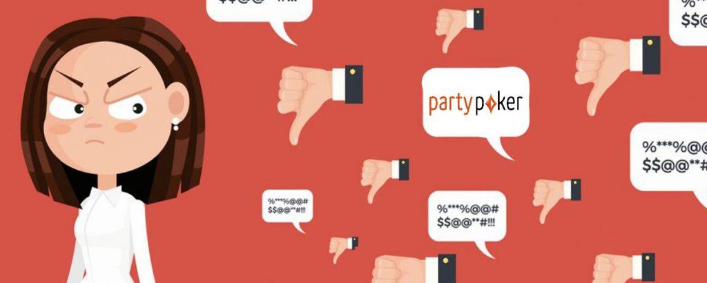 Негативные отзывы о руме partypoker